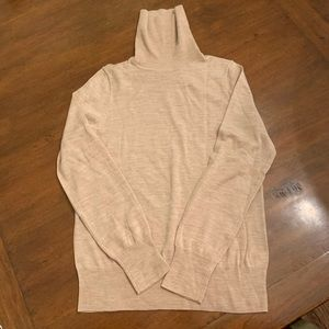 J Crew merino wool t-neck in classic light camel